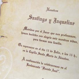 Invitatie de nunta papirus 32830
