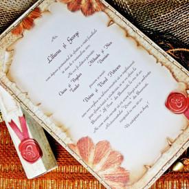 Invitatie de nunta papirus