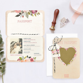 Invitatie de nunta pasaport 39701