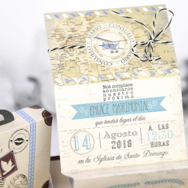 Invitatie de nunta servieta Travel 39223
