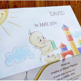 Invitatie de botez baby