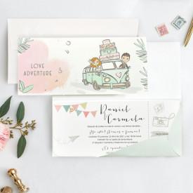 Invitatie de nunta aventura