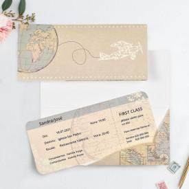 Invitatie de nunta bilet
