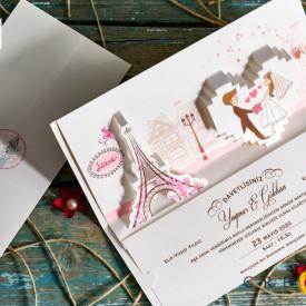 Invitatie de nunta Paris 70132