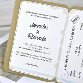 Invitatie de nunta pasaport 39315