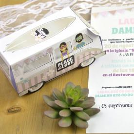 Invitatie de nunta rulota
