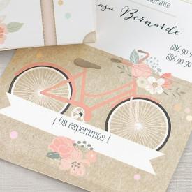 Invitatie de nunta servieta bicicleta 39719