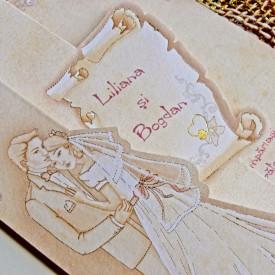 Invitatie de nunta vintage 31314