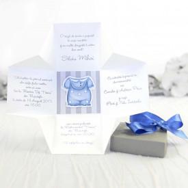 Invitatie de botez cutie
