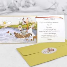Invitatie de nunta comic pescari 32405