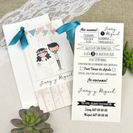 Invitatie de nunta comic
