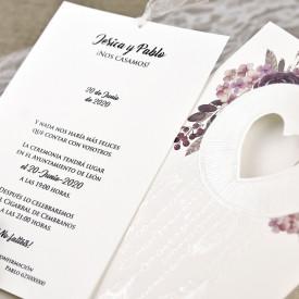 Invitatie de nunta inima 39615