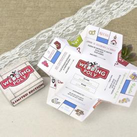 Invitatie de nunta Monopoly