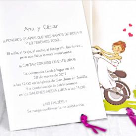 Invitatie de nunta motor