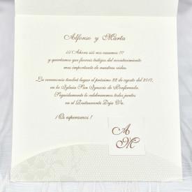 Invitatie de nunta textura florala