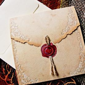 Invitatie de nunta vintage 31302