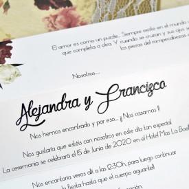 Invitatie de nunta cutie florala 39601