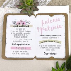 Invitatie de nunta florala 39606