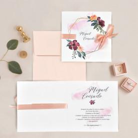 Invitatie de nunta florala 39708