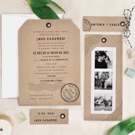 Invitatie de nunta kraft