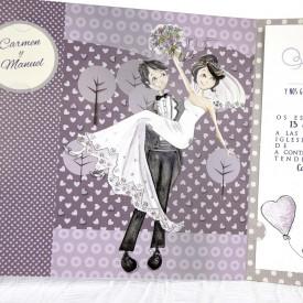 Invitatie de nunta masina 39218