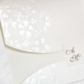 Invitatie de nunta textura florala 39102