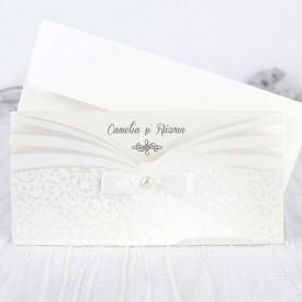 Invitatie de nunta white