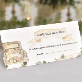 Plic de bani nunta 5727