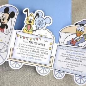 Invitatie de botez tren Mickey