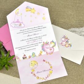 Invitatie de botez unicorn 15611
