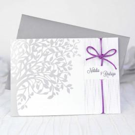 Invitatie de nunta florala 39206
