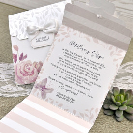Invitatie de nunta florala 39623