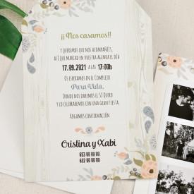 Invitatie de nunta florala 39725