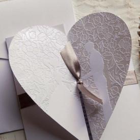 Invitatie de nunta inima 39850