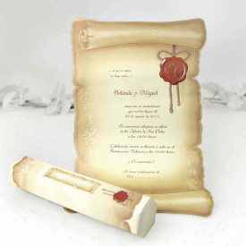 Invitatie de nunta papirus 30114