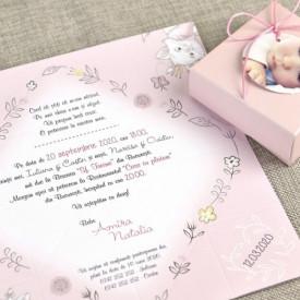 Invitatie de botez Marie
