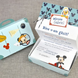 Invitatie de botez servieta Mickey