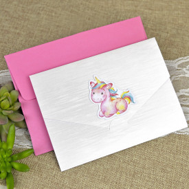 Invitatie de botez unicorn