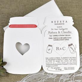 Invitatie de nunta borcan 39641