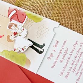 Invitatie de nunta comic 32708