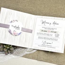 Invitatie de nunta florala 39613