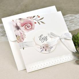 Invitatie de nunta florala 39632