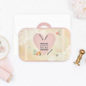 Invitatie de nunta geanta
