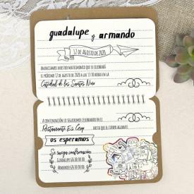 Invitatie de nunta pasaport 39602