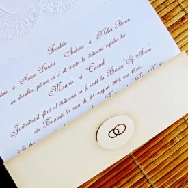Invitatie de nunta vintage 31316