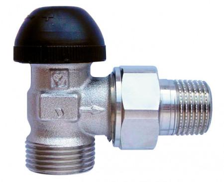 Poze Robinet cu ventil termostatic, model coltar, M30 x 1,5 - 1/2'', FE, cod 1 7734 26 si conector de 15(Cu) sau 16 (PeX)