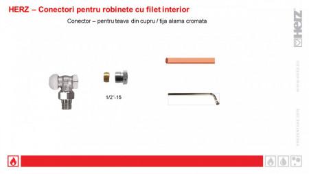 """Poze Conector Herz cu garnitură metalică 1/2"""" x 15 cod 1 6292 01"""