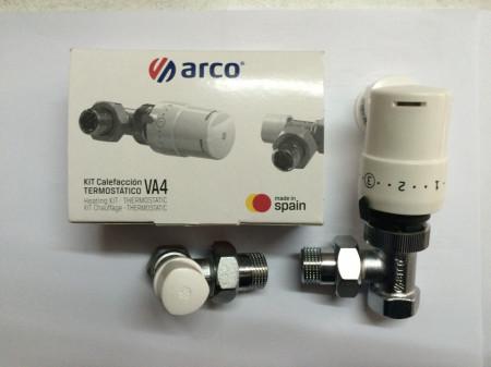 Poze Pachet compus din robinet cu ventil termostatic , cap termostatic si robinet retur Arco