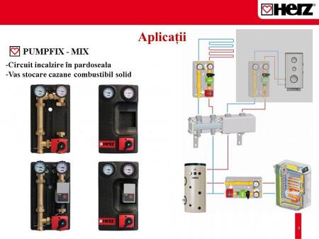Poze Grup de pompare Herz PUMPFIX cu by-pass 0÷50%, fara pompa ,kvs 10 DN 32 cod 1 4511 04