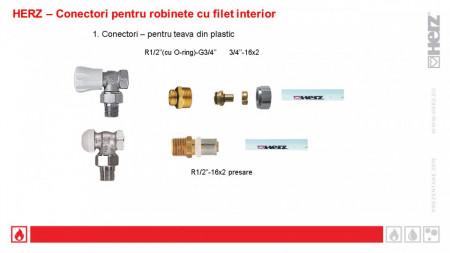 """Racord pentru ţevi din material plastic 3/4"""", pentru ţevi din PE-X, PB şi cu inserţie de Al G3/4"""" 17 x 2 mm cod 1 6098 04"""